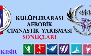 Kulüplerarası Aerobik Cimnastik Yarışması Sonuçları